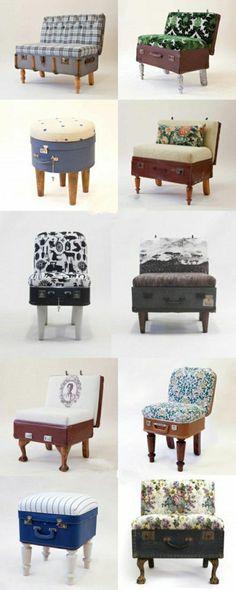 Le canapé de valise ancienne