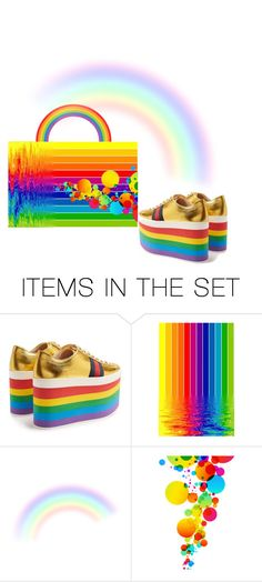 """""""Over the Rainbow"""" by riagr ❤ liked on Polyvore featuring art and vintage"""