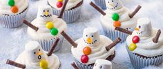 Melted Snowman Cupcakes Recipe