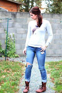 Boyfriend jeans & sweaters - perfect winter wardrobe