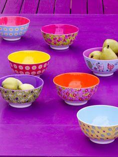 Rice dk Two Tone Melamine Bowls Deco Boheme, Scandinavian Living, Rice Bowls, Kitchen Colors, Decoration, House Colors, Bunt, A Table, Dinnerware