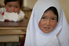 #PhotoOfTheWeek An #Afghan girl in ARZU's co-ed #preschool class smiles at the camera. (Photo by Sgt. Ken Scar) #education