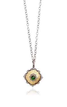 One Of A Kind Tsavorite Moroccan Locket by Arman Sarkisyan for Preorder on Moda Operandi