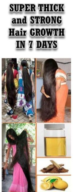 SUPER THICK and STRONG Hair GROWTH IN 7 DAYS