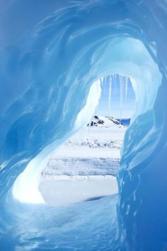 Small ice cave on Antarctica    www.offcampusapartmentfinder.com