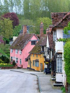 Ancient Village, Kersey, Suffolk, England