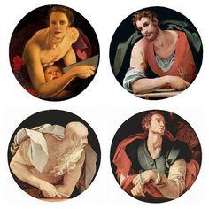Série des Quatre Évangélistes réalisée par Jacopo Pontormo et Agnolo Bronzino