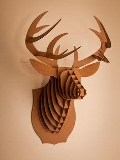Cardboard Safari Mounted Animal Trophies