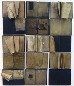 Zea Morvitz - My Secrets. (15 volumes) Acrylic and mixed media on books