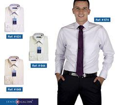 Elegancia y estilo con nuestras camisas formales, encuentralas en nuestras tiendas. ¡Se un hombre Jean Gaudin! #Manizales #ModaMasculina #Estilo #Hombres #Camisas #Fashion #style #tiendaonline #Colombia