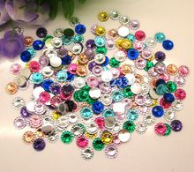 Fahsion Hot Sale Mixed Resin Kawaii Dot Round Flatback Cabochon Scrapbooking Crafts Decoration Fit Phone Diy 8mm 500Pcs/lot(China (Mainland))