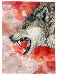 [insert creative title here] by wolf-minori on DeviantArt Wolf Hybrid, Angry Wolf, Bd Art, Wolf Tattoo Sleeve, Wolf Images, Creepy Drawings, Werewolf Art, Wild Creatures, Arte Horror