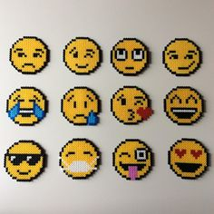 "72 Likes, 4 Comments - Perler Beads (@_the_creative_girls_) on Instagram: ""#emoji #mood #smile #smileys #faces #creative #creativity #hama #hamabeads #perlerbeads #kiss…"""