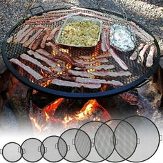 Sunnydaze X Marks Outdoor Fire Pit Cooking Grill Grate. Creates perfect grill marks on food without any hassle. Enjoy an evening of grilling with this cooking grate! X-marks fire pit cooking grill for tripod or placing on fire pit. Fire Pit Grill Grate, Fire Pit Cooking Grill, Grill Grates, Diy Fire Pit, Fire Pit Backyard, Cooking On The Grill, Best Fire Pit, Fire Pit Food, Camping Fire Pit