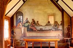 The Last Supper Fresoe in Holy Trinity Church, Glendale Springs, NC