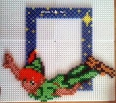 Peter Pan photo frame hama perler beads by deco.kdo.nat
