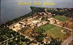 As I was looking at this photo, I had a hard time finding Tamarack and Maple Hall's, among other things.then I realized how old this picture is. Bemidji State University, Bemidji Minnesota, Teachers College, State College, Aerial View, Places To See, City Photo, Dolores Park, Old Things