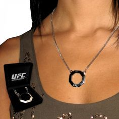 UFC Women's Stainless Steel Octagon Pendant