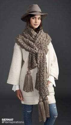 Pump Up The Volume Crochet Super Scarf - free super chunky pattern by Bernat for…