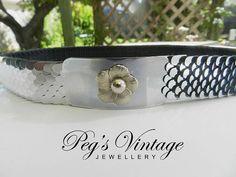 Vintage Silver Metal Elastic Belt//Fish by PegsVintageJewellery, $14.00