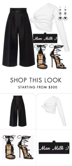 """Untitled #77"" by nelafashion ❤ liked on Polyvore featuring Martin Grant, Jacquemus, Dsquared2 and Isabel Marant"