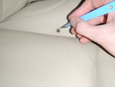 How to Fix a Cigarette Burn In A Car Seat | fix burn holes ...