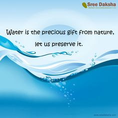 SAVE WATER - Don't let our future dry up..