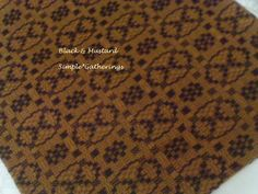 """BLACK, MUSTARD HAMPTON OVAL-DESIGN RECTANGLE WOVEN TABLE RUNNER 56"""" x 14"""" Cot/Ac #Unbranded"""