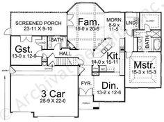 Audelle House Plan - First Floor Plan