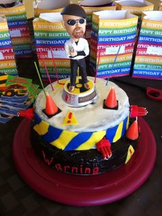Mythbusters cake and party ideas