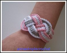 Anna Simple Crochet: Bracelet with tutorial!