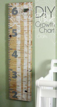 Kit's Crafts - DIY Pallet Growth Chart