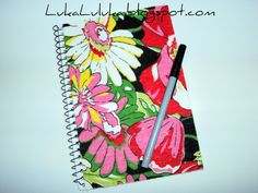 chita fabric covered notebook by Sandra Daimaru
