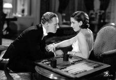 Leslie Howard and Norma Shearer in A Free Soul 1931