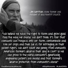 American Farmers Appeal to U.S. Supreme Court to Seek Protection from Genetic Contamination and Invalidate Monsanto's Patents on Genetically Engineered Crops.   Read more: http://fooddemocracynow.org/blog/2013/sep/5/american_farmers_appeal_supreme_court_vs_monsanto