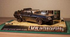 [New Paper Craft] Mad Max V8 Interceptor Ford Falcon XB GT Paper Car Free Vehicle Paper Model Download at PaperCraftSquare.com | Papercraftsquare - free papercraft download