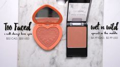 Wet n Wild Apricot in the Middle - Dupe for Too Faced I Will Always Love You blush