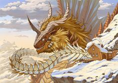 Dragon by on DeviantArt Weird Creatures, Magical Creatures, Fantasy Creatures, Fantasy Dragon, Fantasy Art, Legendary Dragons, Fantasy Beasts, Dragon Artwork, Dragon Images