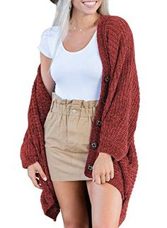 4a0fa2fba10d0 Dearlove Women s Oversized Long Sleeve Open Front Knit Cardigan Sweater  with Pocket S-XXL at · Winter Outfits For ...