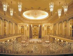 """the Hilton Cincinnati Netherland Plaza, built in with deco and art nouveau touches throughout, especially in the """"Hall of Mirrors"""" ballroom."""