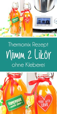 Take 2 liqueurs without sticking. Fast and easy in the Thermomix This recipe is really easy and the liqueur is awesome. Whether in summer for barbecues or as a small gift for New Year's Eve party. This liqueur is always well received and may Easy Healthy Recipes, Crockpot Recipes, Snack Recipes, Easy Meals, Snacks, Drinks Alcohol Recipes, Non Alcoholic Drinks, Cocktail Recipes, Thermomix Party