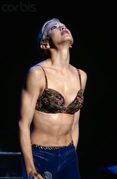 """Madonna in Concert Madonna pauses during a song in her """"Girlie Show"""". 1.9.93"""