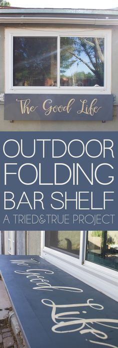 Utilize wasted space with an Outdoor Folding Bar Shelf! Perfect for Summer entertaining!