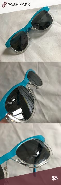 Blue mirrored baby wayfarer shades sunglasses UV UV protection blue mirrored baby sunglasses. Light allover scratches which do not affect vision. Perfect for car or beach, park, etc. No trades. No holds. Accessories Sunglasses