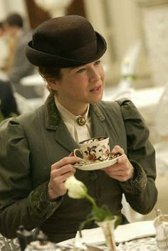 Miss Potter partaking of tea ~ from the 2006 film on Beatrix Potter's life: 'Miss Potter'.