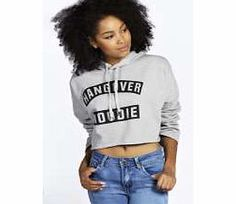 boohoo Hangover Slogan Oversized Crop Hoodie - grey Reserve this hoodie for those lazy days when you dont want the headache of deciding what to wear. Style this statement sweat with joggers and flats for an understated look on dressed down days. http://www.comparestoreprices.co.uk/womens-clothes/boohoo-hangover-slogan-oversized-crop-hoodie--grey.asp