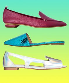 loafers, cutout shoes, metallic, leather, colorful, palette, footwear, slip on, holographic, mules, eclectic from: refinery29