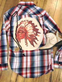 Indian Plaid Shirt   Spunky Steer