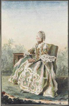 Madame de Montainville / By Carmontelle.