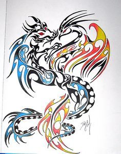 intertwined pheonix tattoo - Google Search